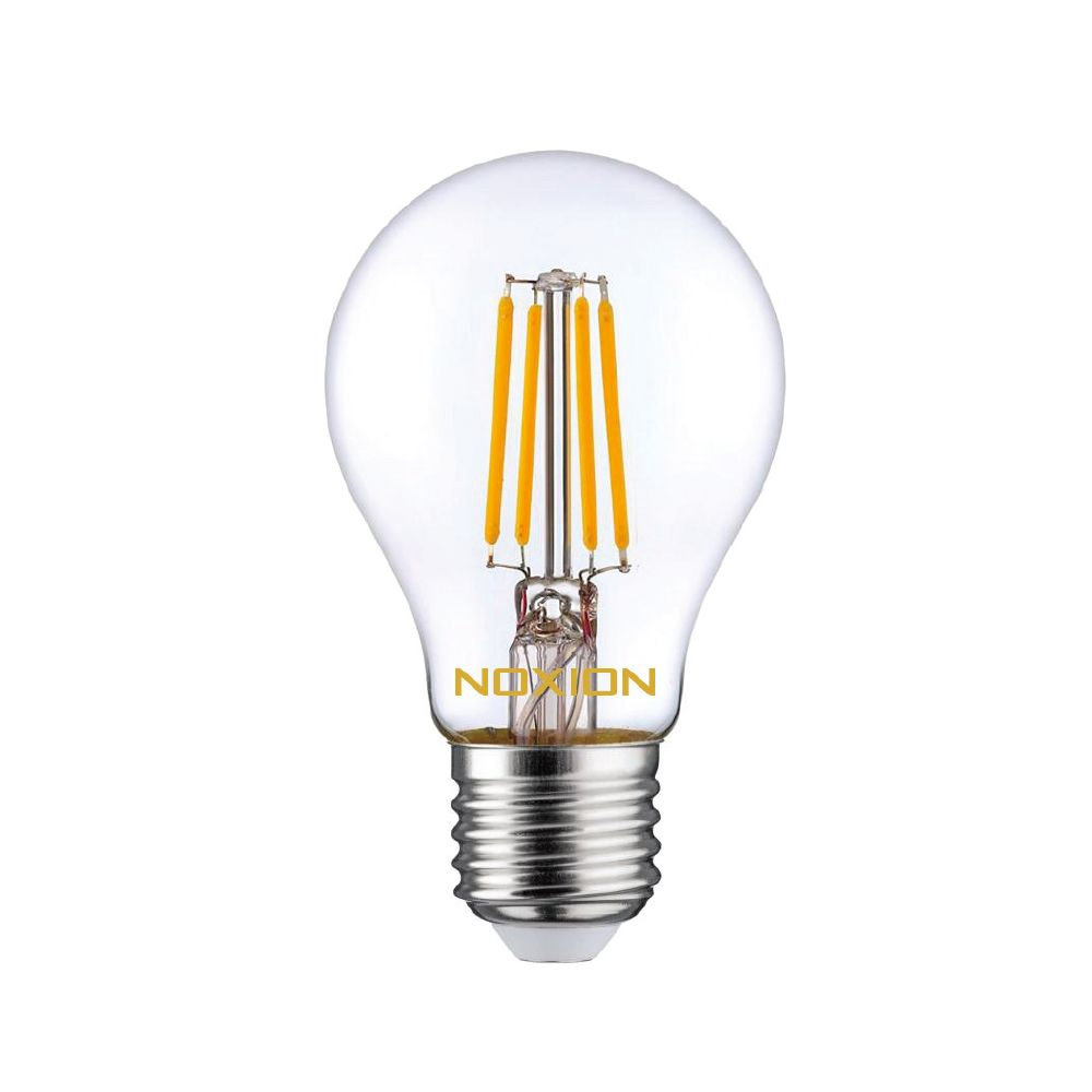 Noxion Lucent Fadenlampe LED Bulb 8W 827 A60 E27 Klar | Extra Warmweiß - Ersatz für 75W