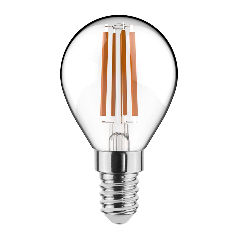 Noxion Lucent Fadenlampe LED Lustre 4.5W 827 P45 E14 Klar | Dimmbar - Extra Warmweiß - Ersatz für 40W