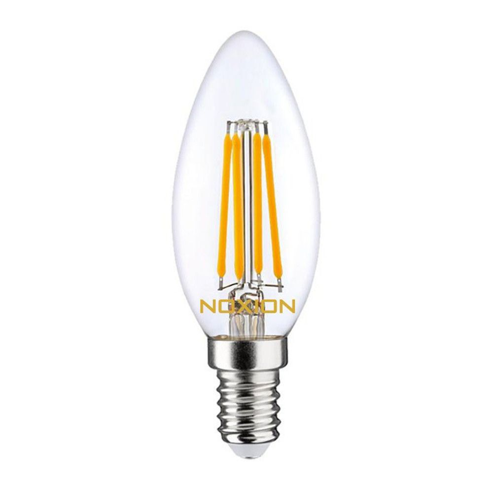Noxion Lucent Fadenlampe LED Candle 4.5W 827 B35 E14 Klar | Extra Warmweiß - Ersatz für 40W