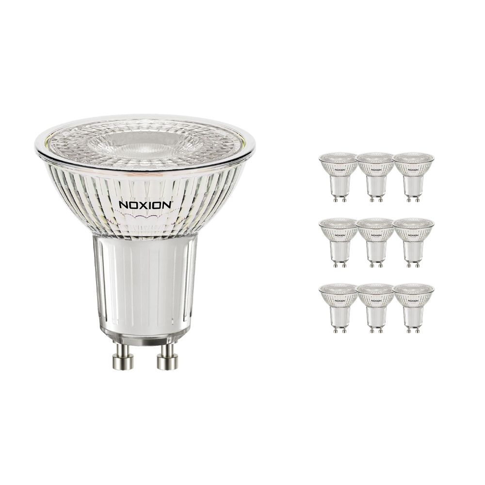 Mehrfachpackung 10x Noxion LED-Spot GU10 4.6W 827 36D 420lm | Dimmbar - Extra Warmweiß - Ersatz für 50W