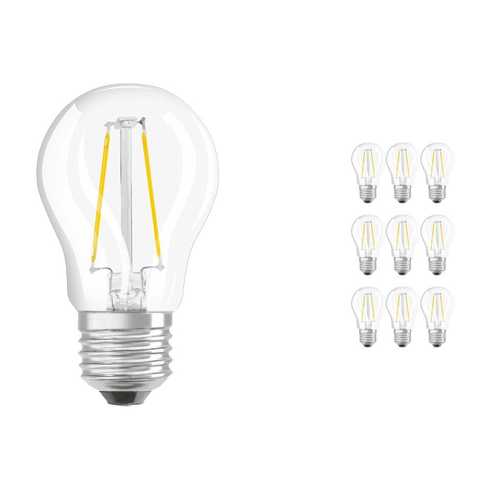 Mehrfachpackung 10x Osram Parathom Retrofit Classic E27 P 1.5W 827 Fadenlampe   Extra Warmweiß - Ersatz für 15W