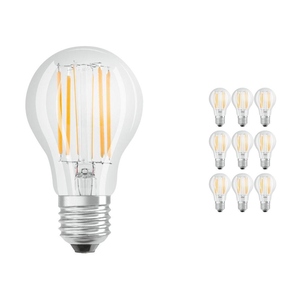 Mehrfachpackung 10x Osram Parathom Retrofit klassisch E27 A 8.5W 827 Fadenlampe | Extra Warmweiß - Ersatz für 75W