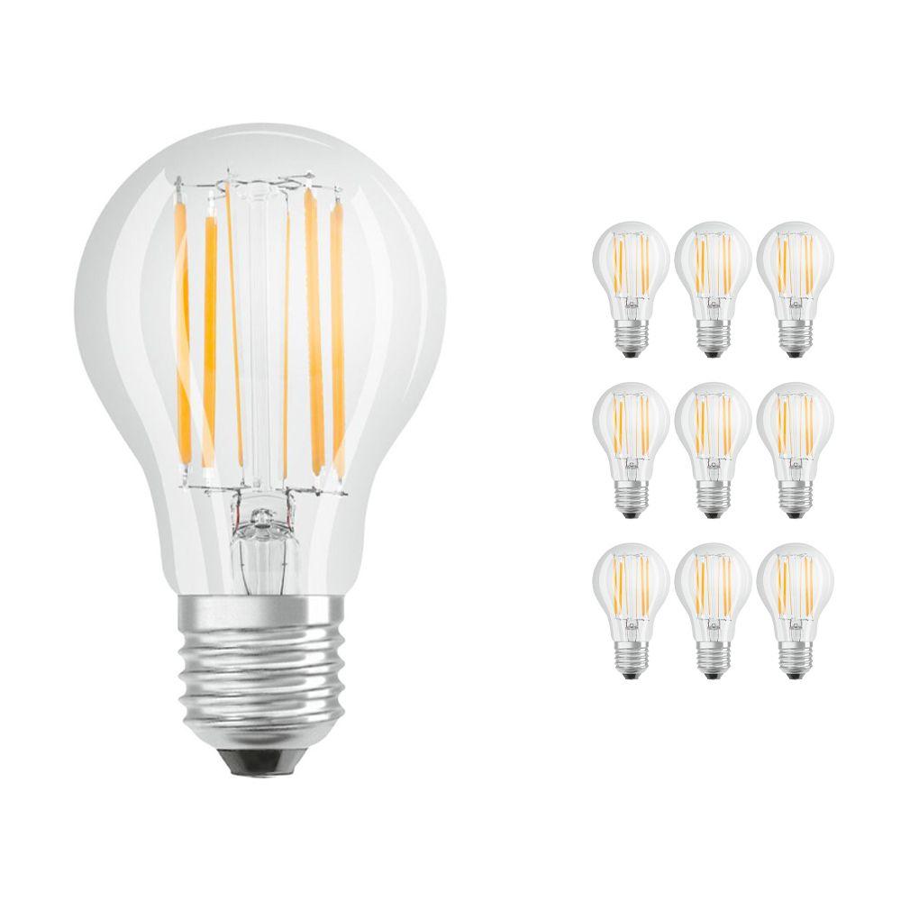Mehrfachpackung 10x Osram Parathom Retrofit klassisch E27 A 7.5W 840 Fadenlampe | Kaltweiß - Ersatz für 75W