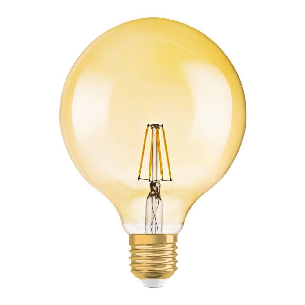 Osram Vintage 1906 LED E27 Globe 2.8W 824 Gold | Ersetzt 20W
