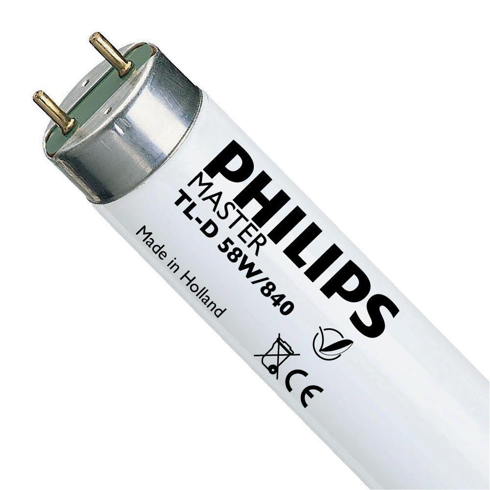 Philips TL-D 58W 840 Super 80 (MASTER) | 150cm - Kaltweiß