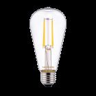 Noxion Lucent Classic LED Fadenlampe ST64 E27 4W 827 Klar   Extra Warmweiß - Ersatz für 40W