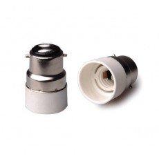 Adapter für Lampenhalterung B22 => E14 Weiss