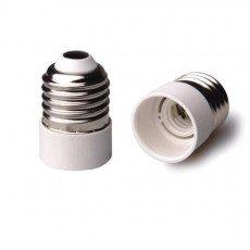 Adapter für Lampenhalterung E27 => E14 Weiss