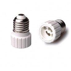 Adapter für Lampenhalterung E27 => GU10 Weiss