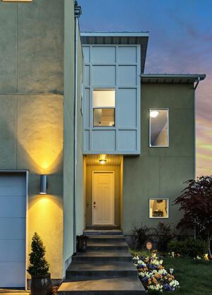 LED-Bewegungsmelder im Außenbereich