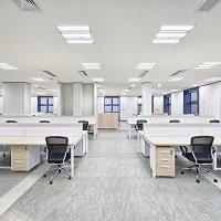 LED-Panels in einem Büro