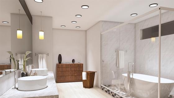 LED-Einbauleuchten im Badezimmer