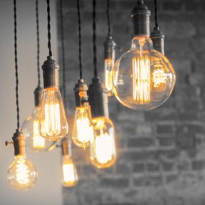 hängende LED-Filament-Lampen