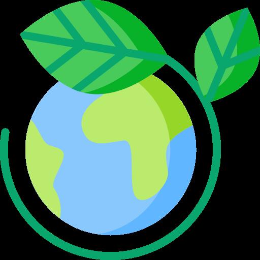 Erde mit Blatt