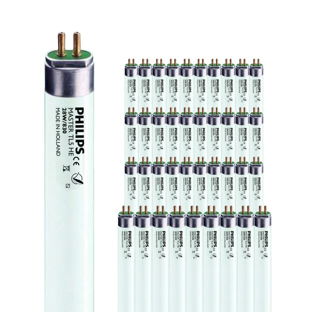Lot de 40 Tubes Fluorescents Philips MASTER TL5 HE 28W/830